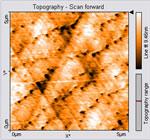 Atomic steps on PbSnSe etch pits